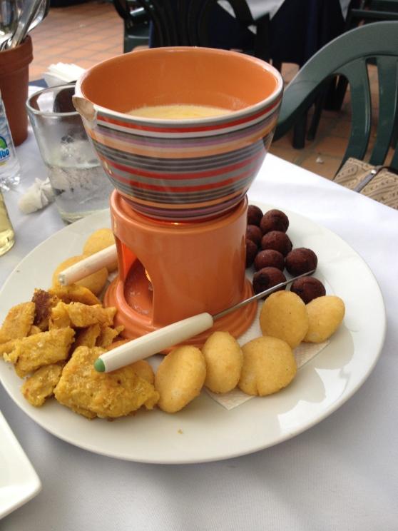 Fondue de queso - Café del establo